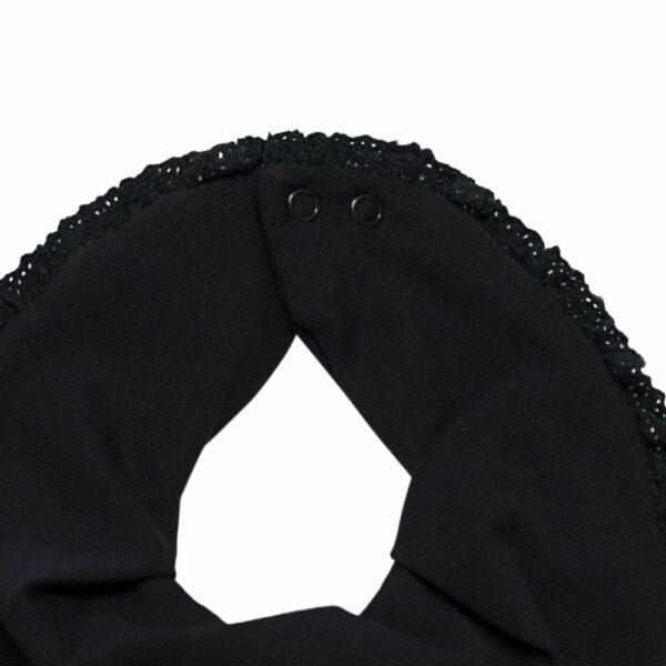Accessories 25 | Sort savlesmæk med blondekant