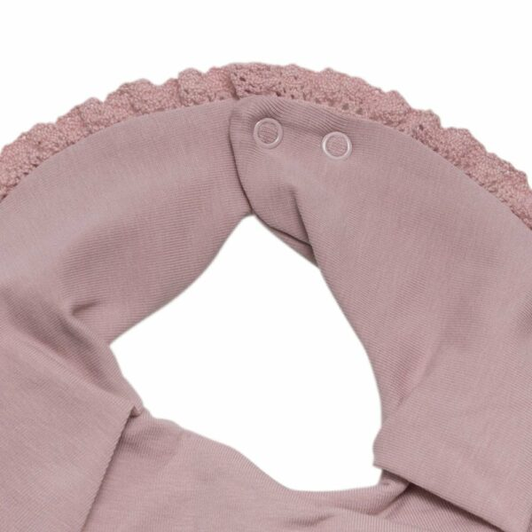 Accessories 36 | Støvet rosa savlesmæk med blondekant