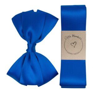 Dåbs sæt til drenge i kongeblå silke