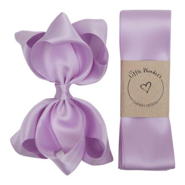 Dåbs sæt til piger i Light Orchid silke