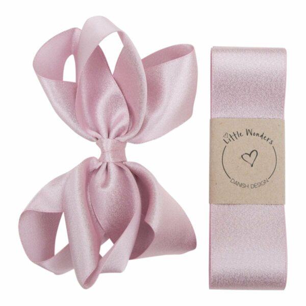 Glitter dåbs sæt til piger i lyserødt satin