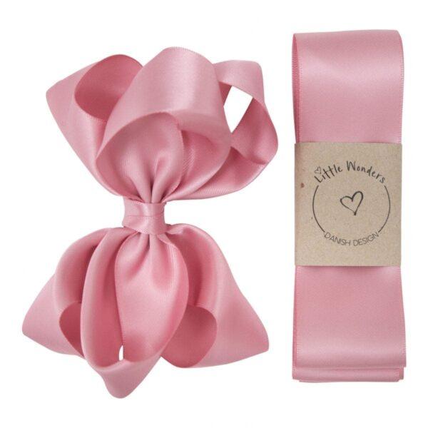 Dåbs sæt til piger i quartz rosa silke