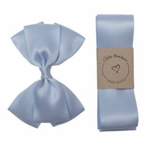 Dåbs sæt til drenge i lyseblå silke