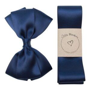 Dåbs sæt til drenge i navy blå silke