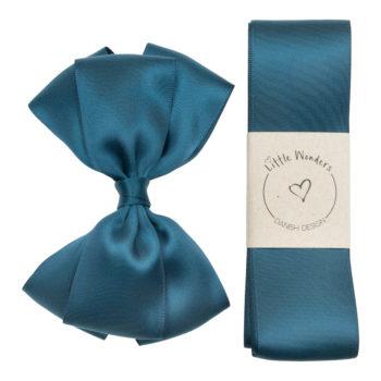 Military Blue silke Dåbssæt til drenge