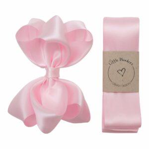 Dåbs sæt til piger i lyserød silke