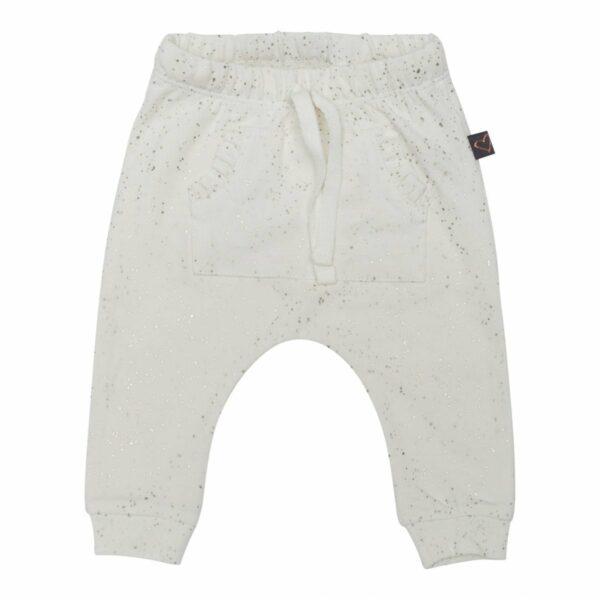Baggypants ow 50 56 1 | Off white  bukser med glitterprint og lommer