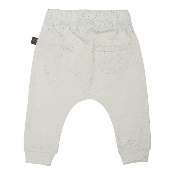 Baggypants ow 50 56 back | Off white  bukser med glitterprint og lommer