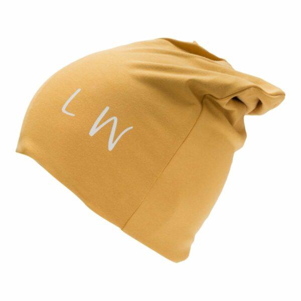 Beanie boys curry | AW19 Karry gul Beanie hue til drenge med LW logo