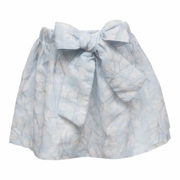 Macy nederdel til piger med stor sløjfe Blue Magnolia