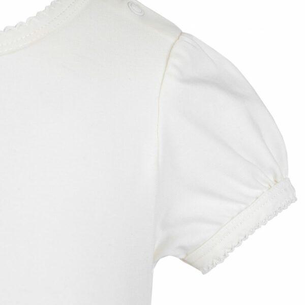 Body off white | Off White kortærmet body til baby med pufærmer