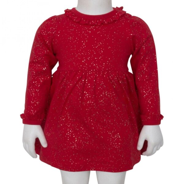 Bodydress Red | AW19 Rød julekjole body med glimmerprint