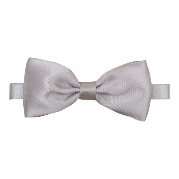 Bowtie Silk Silver 012 | Lille grå butterfly i satin til børn