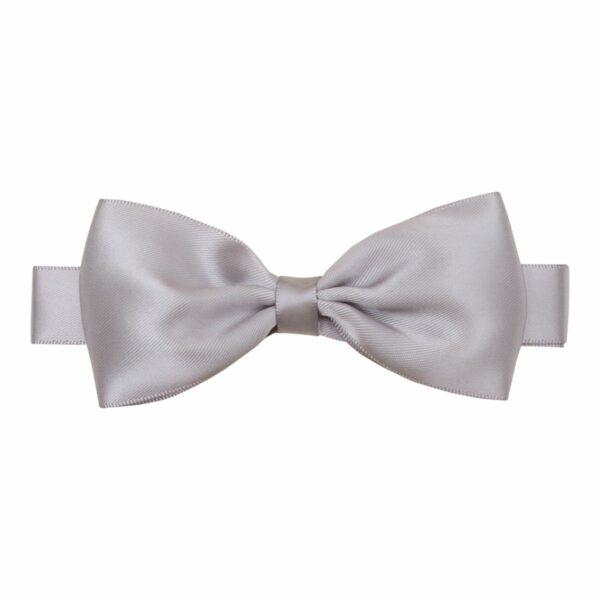 Bowtie Silver silk big | Stor grå butterfly i satin til større børn