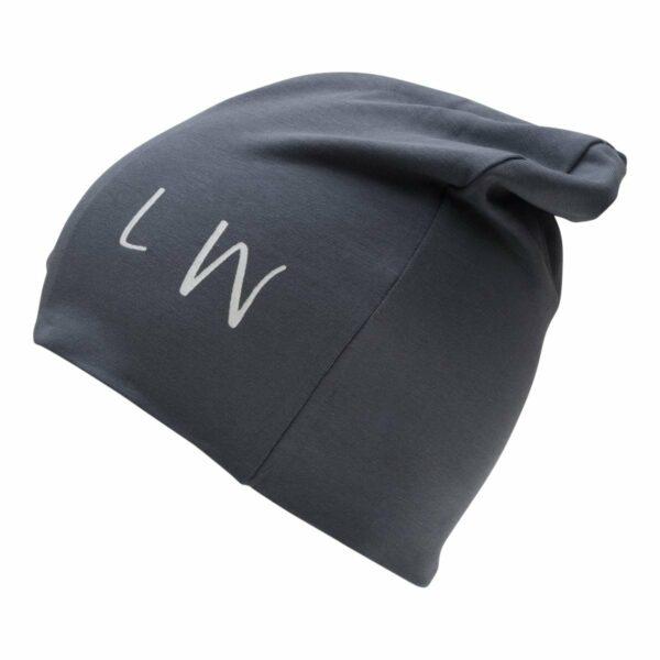 Boy beanie grey | Beanie hue til drenge i koksgrå med LW logo