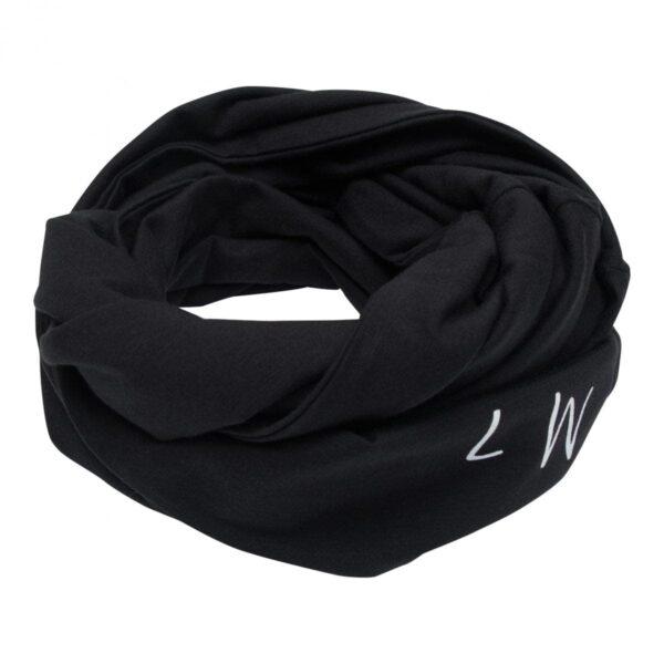 Boys Tube scarf black | Sort tube tørklæde med knapper til drenge