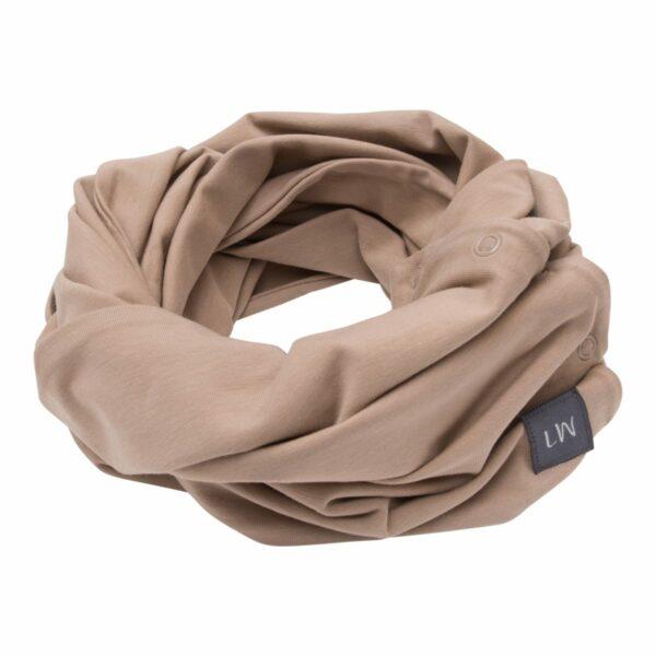 Boys Tube scarf chestnut | Chestnut brunt tube tørklæde med knapper til drengene