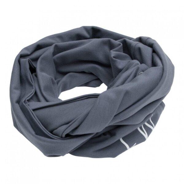 Boys Tube scarf grey | Koksgrå tube tørklæde med knapper til drenge