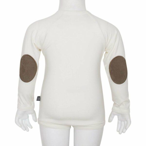 Boys body off white back | Off white body til drenge med albue lapper