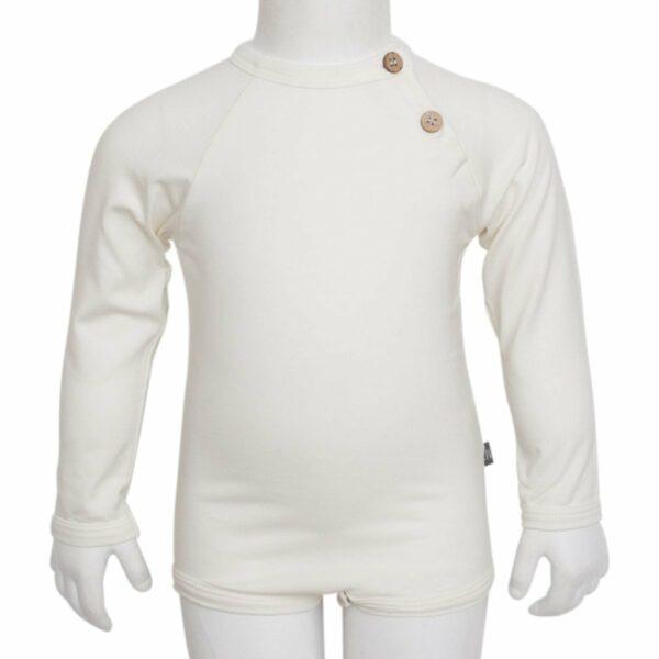 Boys body off white front | Off white body til drenge med albue lapper