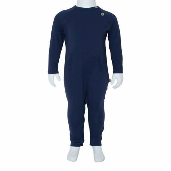 Navy Blå Heldragt til drenge med lomme