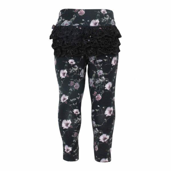 CR1 7321 Edit | Black Flower Ella leggings med blonde numse