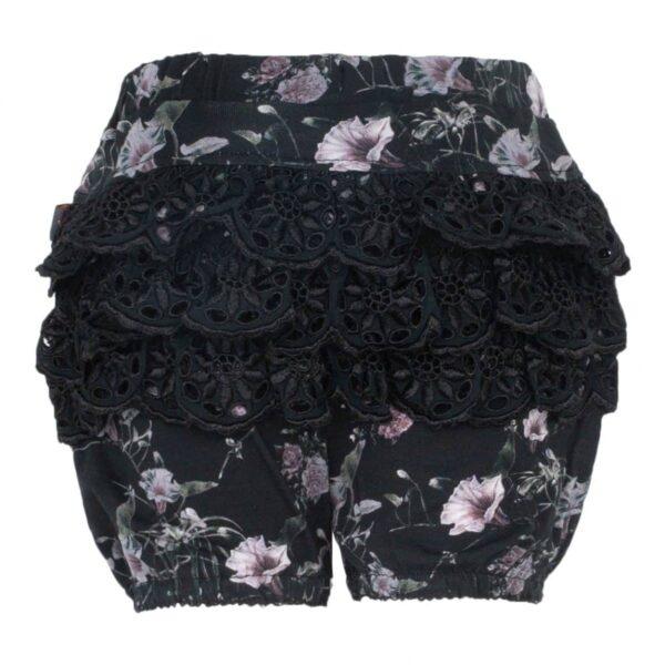 CR1 7323 Edit | AW19 Ella Bloomers med blonde numse i Black Flower Print