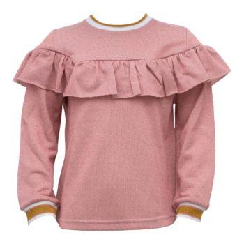Bluse til piger i Rosa glitterstof