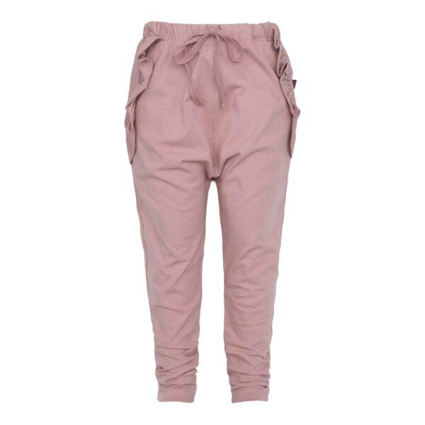 Saga Teen Baggy Pants i støvet rosa jersey