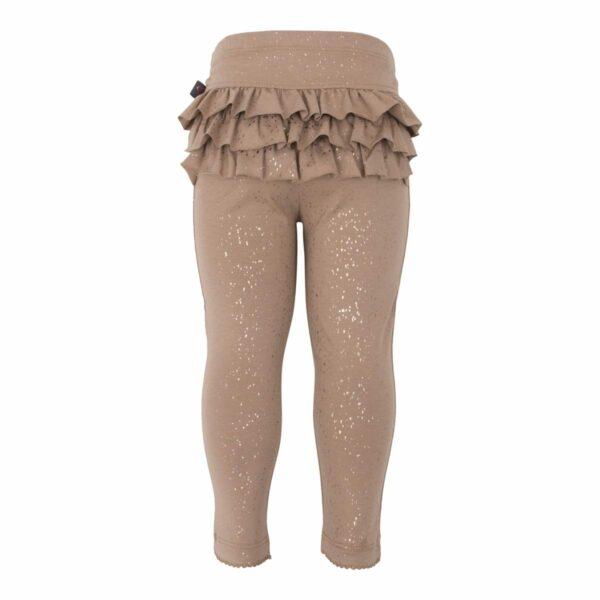 Chestnut Frill leggtings | Chestnut brune glitter flæse leggings