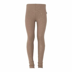 Chestnut brune glitter leggings til piger
