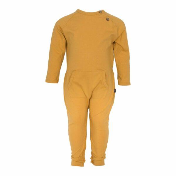 Curry bodysuit boys front | Karry gul heldragt til drenge fra Little Wonders