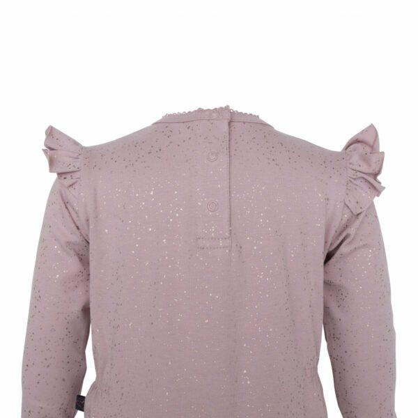 DR Bodysuit back  1 | Støvet rosa heldragt med glimmerprint og vinger
