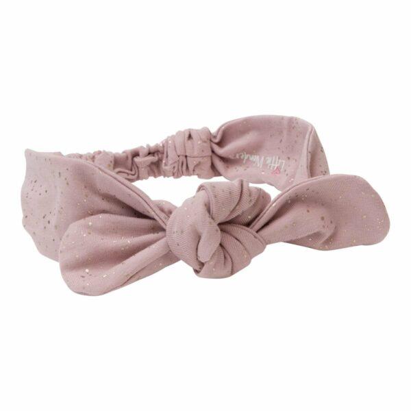 DR glitter headband 1 | Støvet rosa Jersey Hårbånd med glitterprint