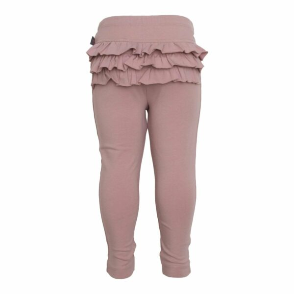 Dusty Rose frill leggings | Støvet Rosa Leggings til baby med flæsenumse