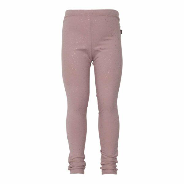 Støvet Rosa leggings til piger med glimmerprint
