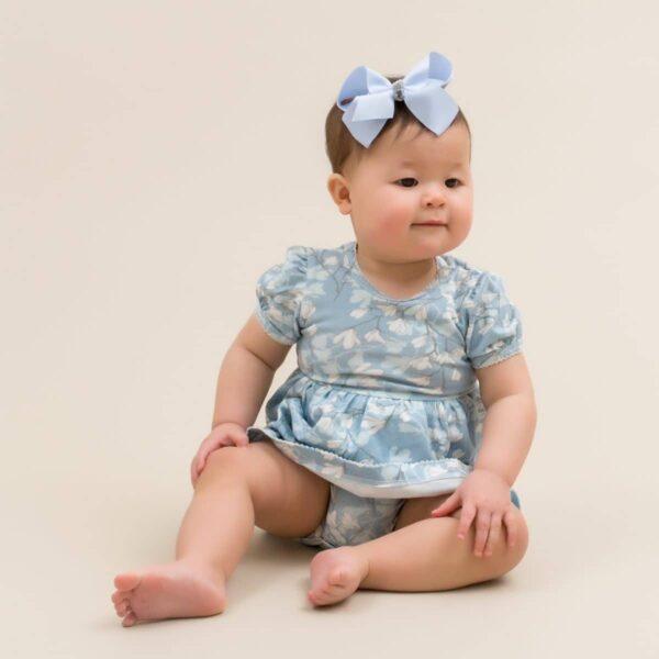 Ellie 13 | SS19  Blue Magnolia Kortærmet bodykjole