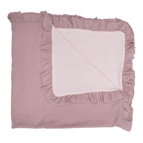 Frill blanket | Babytæppe med flæsekant i 2 lag