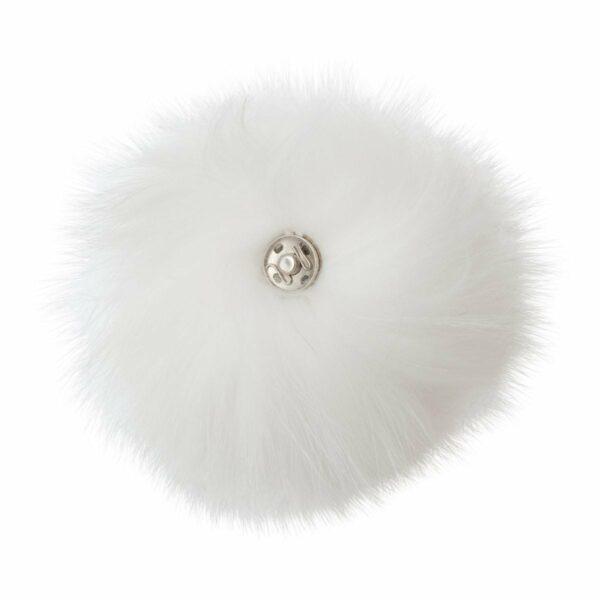 Fur White 1 | Pelskvast - hvid med tryklås