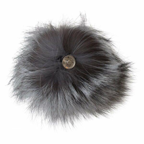 Fur grey 1 | Pelskvast - grå med tryklås