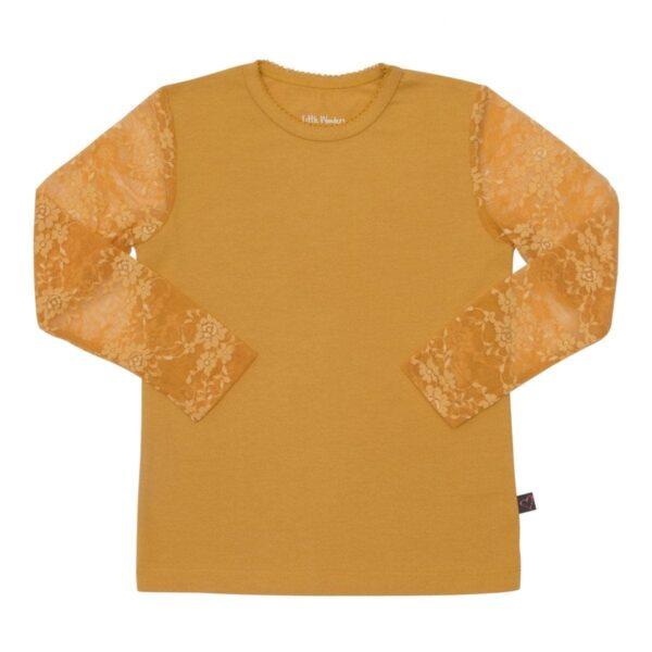 Girls Blouse with lace sleves Curry | AW19 Karry gul Maja bluse til piger med blondeærmer