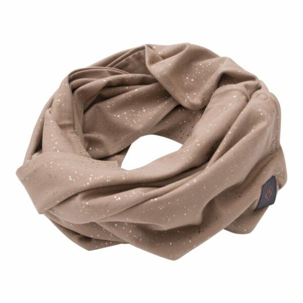 Girls Tubescarf Chestnut Glitter | Chestnut brunt glitter tube tørklæde til børn