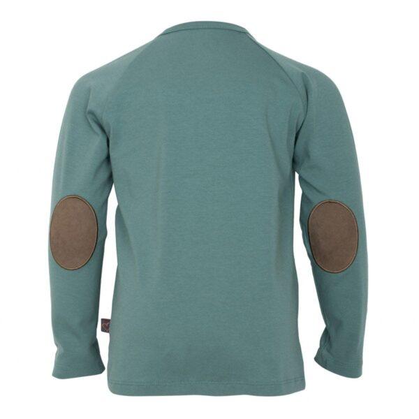 Green boys Tshirt back | SS19 Støvet grøn bluse til drenge fra Little Wonders