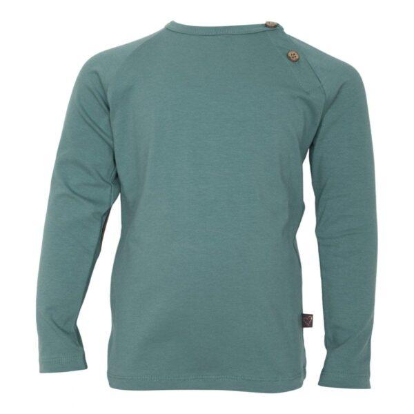 Green boys Tshirt front | SS19 Støvet grøn bluse til drenge fra Little Wonders