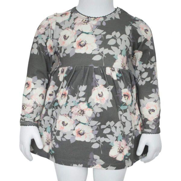 Grey Flower bodydress | SS18 Grey Flower Bodykjole fra Little Wonders
