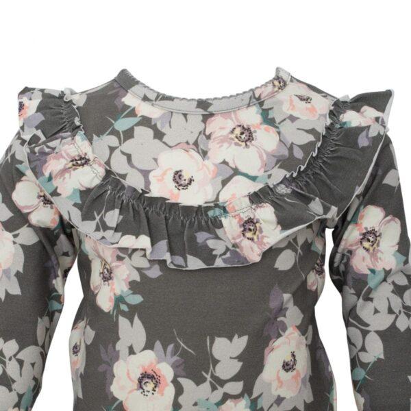 Grey Flower frill blouse girls | SS18 Grey Flower Langærmet flæsebluse