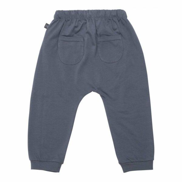 Grey baggy pants back | Koksgrå baggy bukser med lommer til drenge