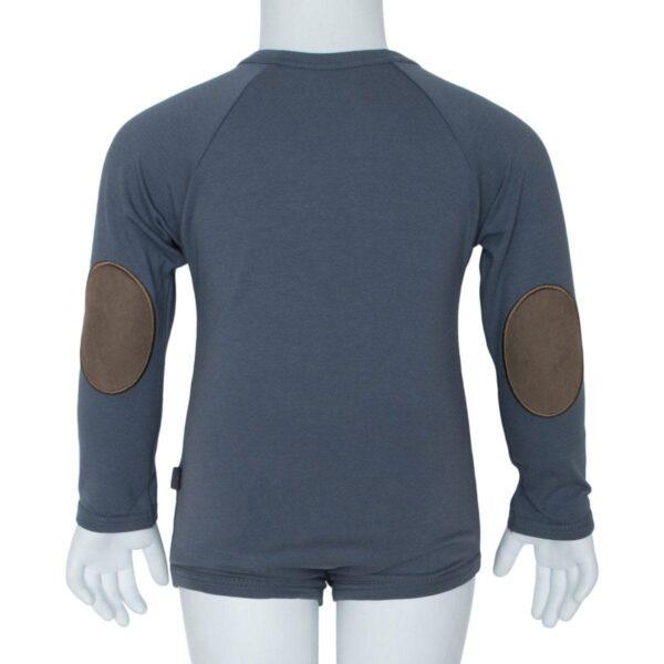Grey boys body | Koksgrå body til drenge med albue lapper