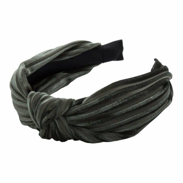 Headband Army velvet | Hårbøjle med fløjl i army grøn fra Little Wonders
