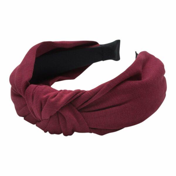 Headband Bordeaux Jersey | Hårbøjle med jersey stof i bordeaux fra Little Wonders